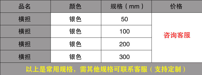 线槽/桥架横担规格价格