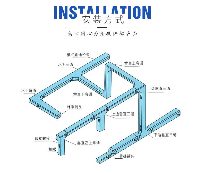 镀锌电缆桥架安装方式