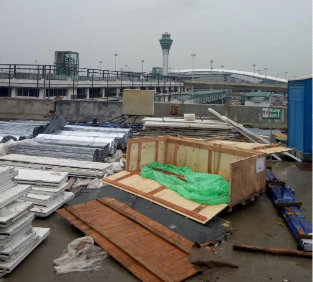 广州白云机场三期改造航站楼桥架案例