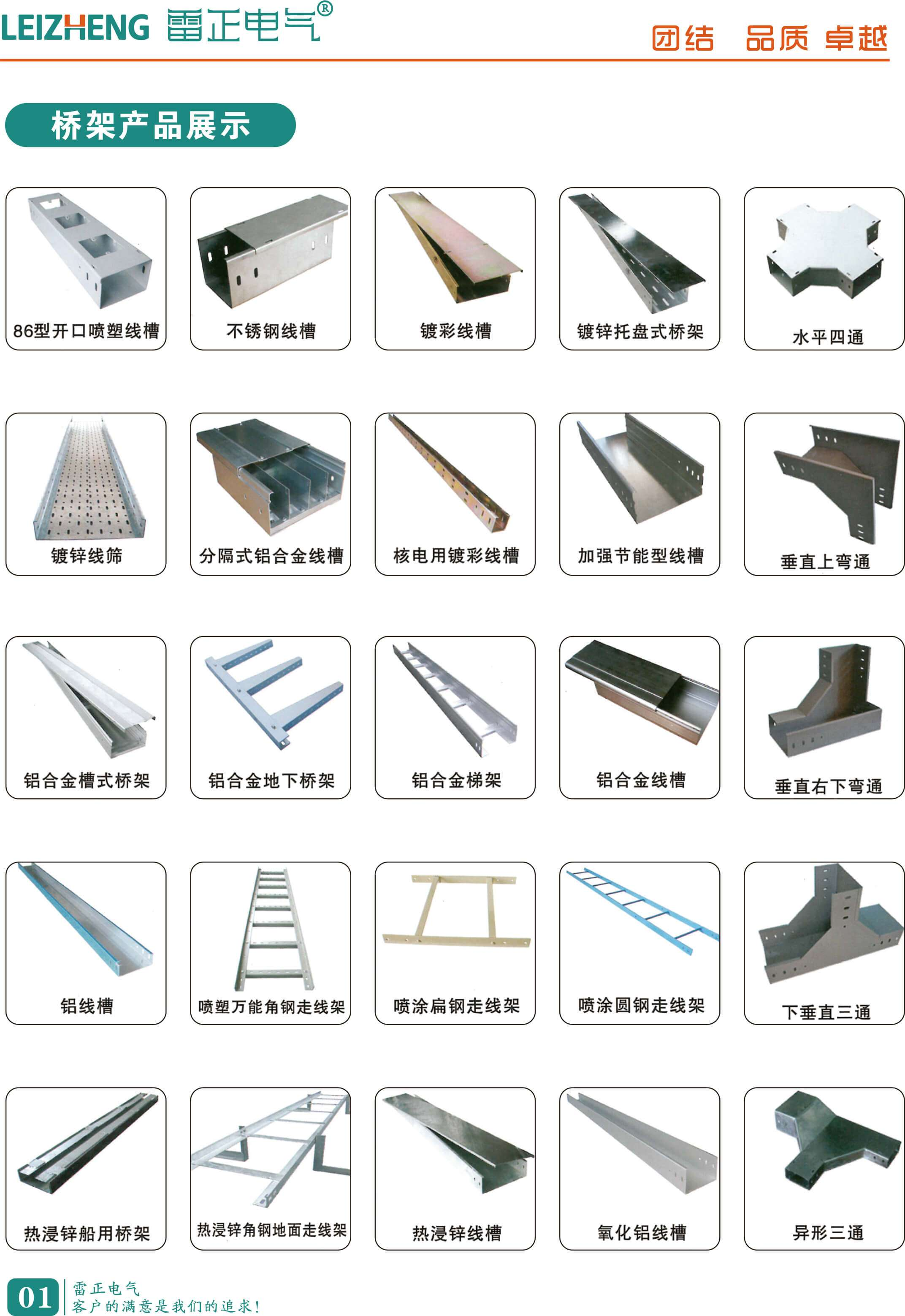 电缆桥架类型