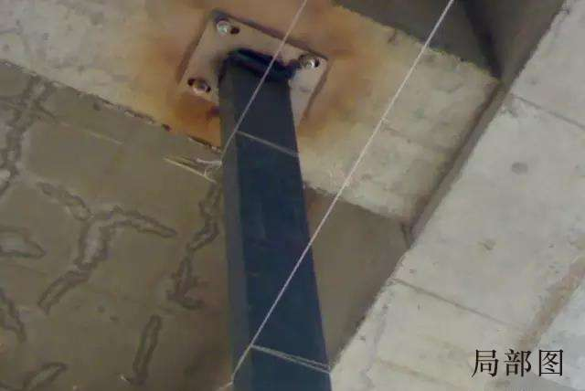 电缆桥架立柱安装局部图