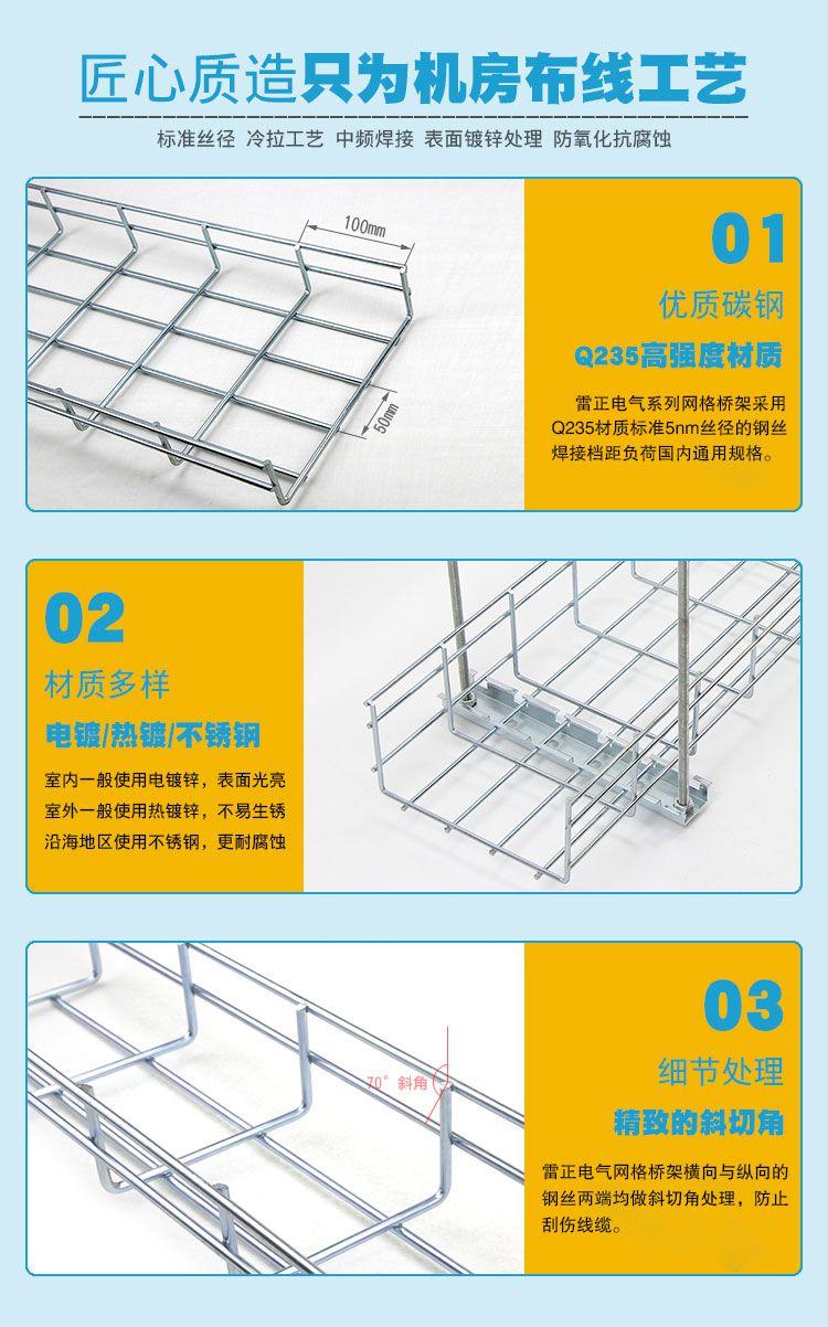 热镀锌网格桥架材质工艺