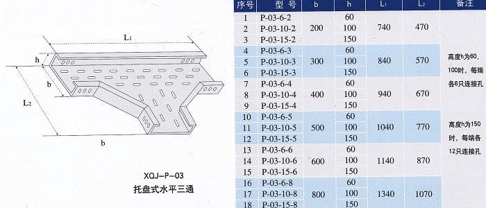 镀锌线槽水平三通规格型号