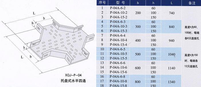 镀锌线槽水平四通规格型号